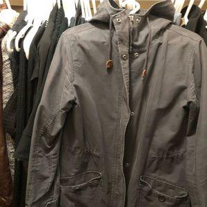 Women's Grey Abercrombie & Fitch Coat